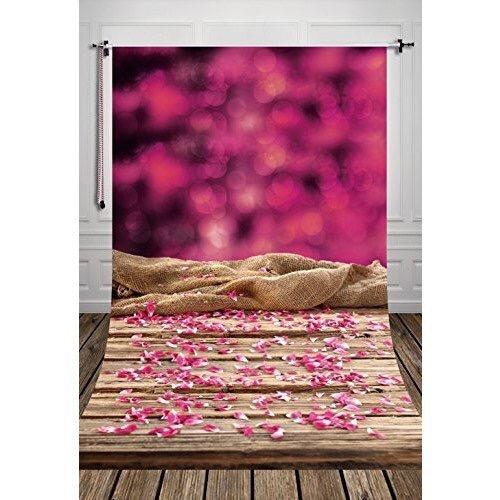 ピンクの花びらと麻布(ドール向け)