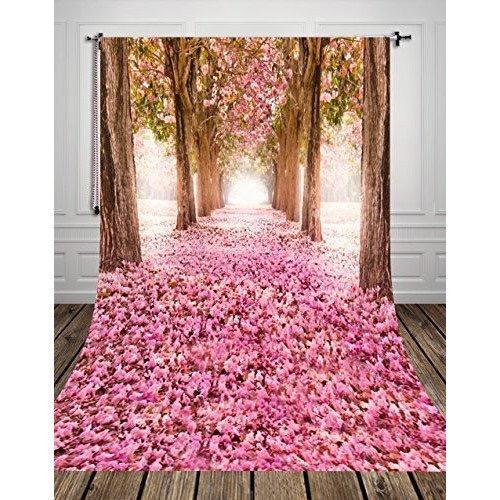木とピンクの花びら絨毯(ドール向け)