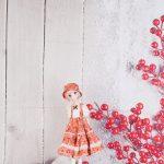 ドール用 冬の赤い実 背景布(150cm×90cm)